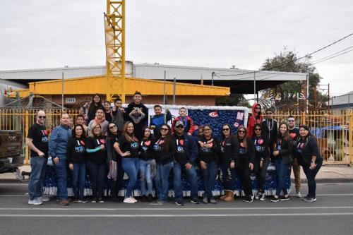 First year in the Anheuser-Busch Washington's Birthday Parade 2020.